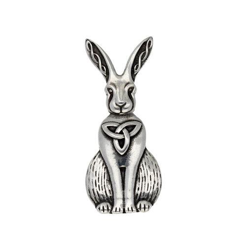 St Justin Celtic Hare Brooch