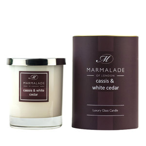Marmalade of London Cassis & White Cedar Glass Candle
