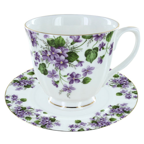 Crown Trent Violet Tea Cup and Saucer C/S