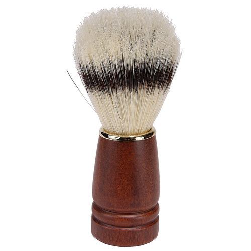 Kingsley Bristle Shave Brush - Dark Wood Handle