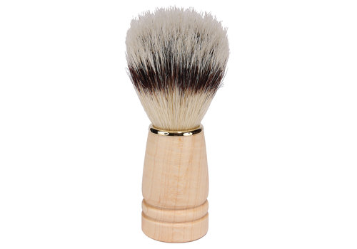 Kingsley Bristle Shave Brush - Natural Wood Handle