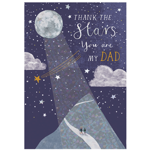 Thank the Stars Father's Day Card