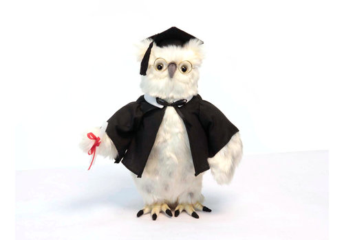 Hansa Creation USA Graduation Stuffed Owl