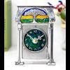 A E Williams A. E. WIlliams Pewter and Enamel Tree Clock