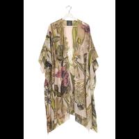 Iris Blush Long Kimono