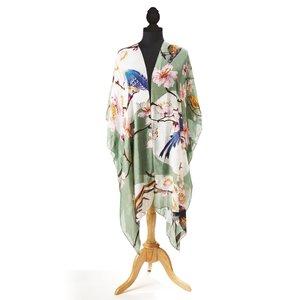 Blossom & Birds Long Kimono