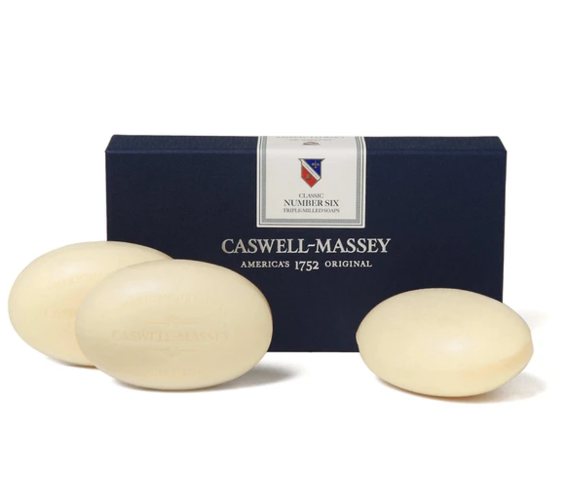 Caswell-Massey Number 6 Triple Milled Bar Soap Set of 3