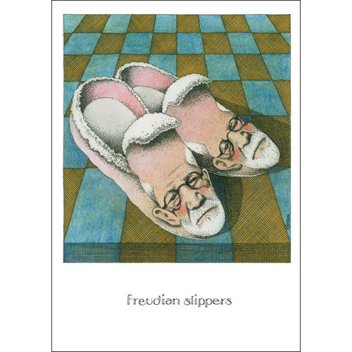 sugarhouse greetings Freudian Slippers Card SD155