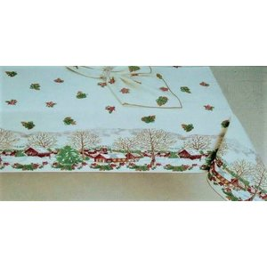 Friendly Village Tablecloth 60x108