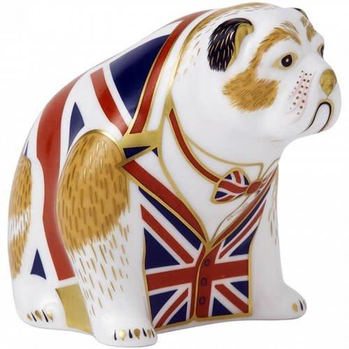 Royal Crown Derby Royal Crown Derby Union Jack Bulldog