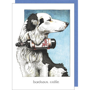 sugarhouse greetings Bordeaux Collie Card SD201