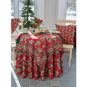April Cornell Holly 72x120 Table Cloth