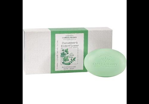 Caswell-Massey Cucumber & Elderflower Bath Soap Set of 3