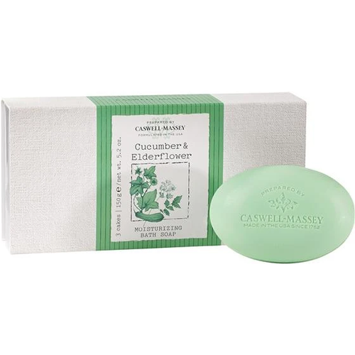 Caswell-Massey Caswell-Massey Cucumber & Elderflower Bath Soap Set of 3