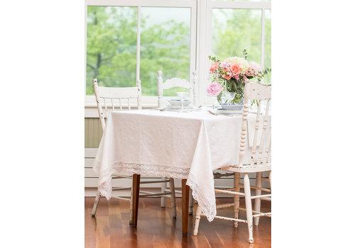 April Cornell Luxurious Linen Jacquard Ivory 60x108 Tablecloth