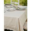 April Cornell Luxurious Linen Jacquard Tablecloth Ecru - 60x108
