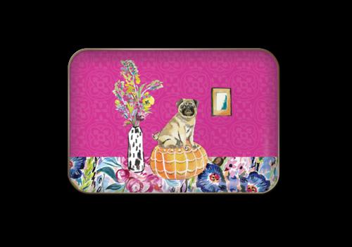Posh Pets Metal Tray- Pug