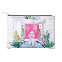 Cosmetic Bag Palm Spring Poodle