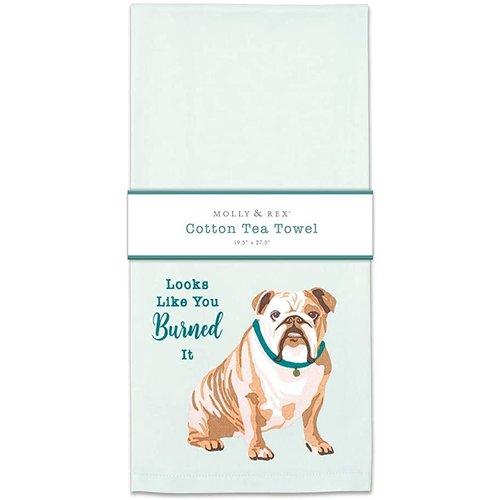 Bulldog tea towel