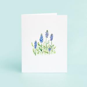 Taylor Paladino Bluebonnet Blank Greeting Card
