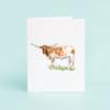 Longhorn Blank Greeting Card