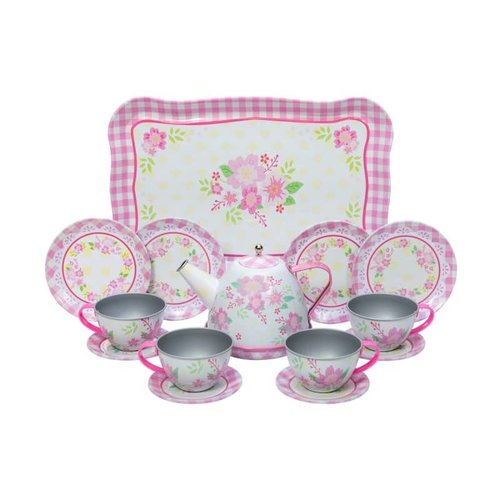 Schylling Schylling Fancy Children's Tin Tea Set