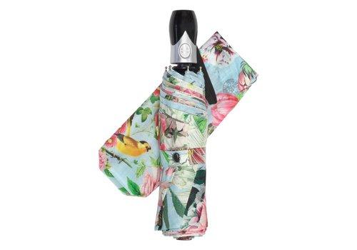 """Michel Design Works Garden Melody Travel Umbrella 38"""" Diameter"""