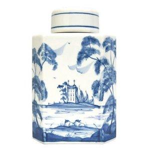 Isis Ceramics Isis Blue Palladian Tea Caddy