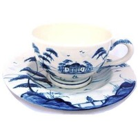 Isis Blue Palladian Teacup and Saucer