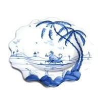 Isis Blue Playful Monkeys - Fife - Scallop Tea Plate