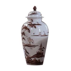 Isis Ceramics Isis Brown Exotic Animals Wigstand Vase