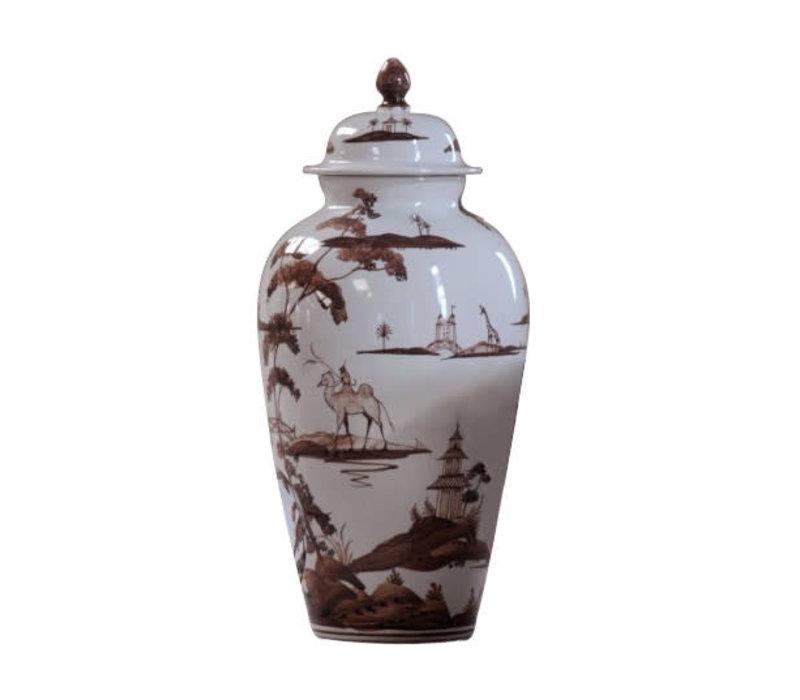 Isis Brown Exotic Animals Wigstand Vase