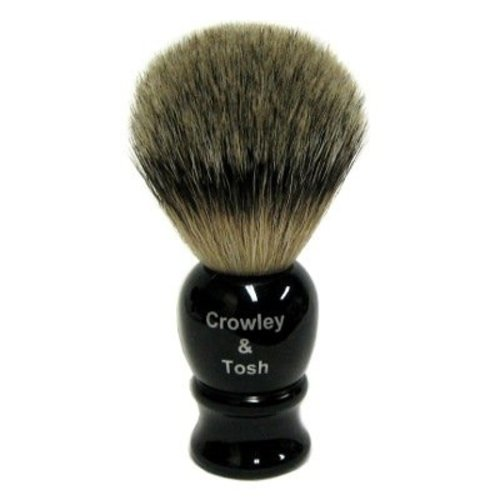 Crowley & Tosh ab15k Crowley & Tosh Best Badger Shaving Brush - Imitation Ebony