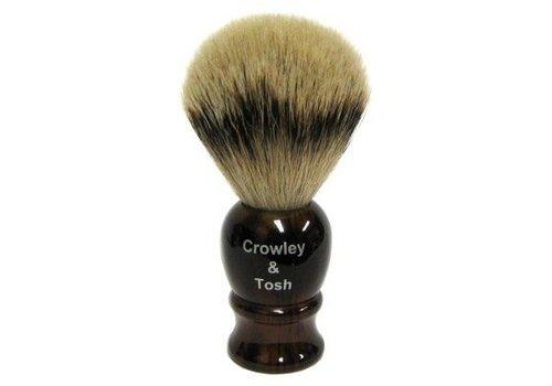 Crowley & Tosh Crowley & Tosh - Horn  Silvertip Badger Shaving Brush - sb15h