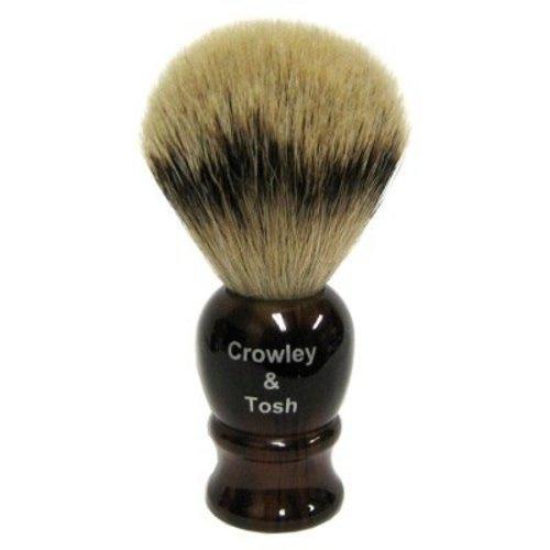 Crowley & Tosh sb15h Crowley & Tosh Silvertip Badger Shaving Brush - Horn