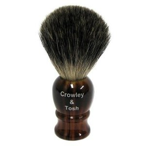 Crowley & Tosh mb15h Crowley & Tosh Mixed Badger Shaving Brush - Horn