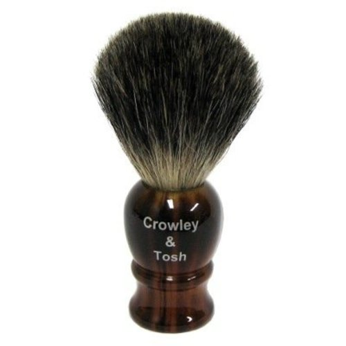 Crowley & Tosh mb15h Crowley & Tosh Pure Badger Shaving Brush - Horn
