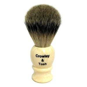 Crowley & Tosh Crowley & Tosh Black Badger Shaving Brush-Imitation Ivory