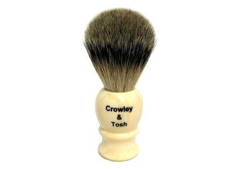 Crowley & Tosh Crowley & Tosh - Imitation Ivory Black Badger Shaving Brush - KB15I