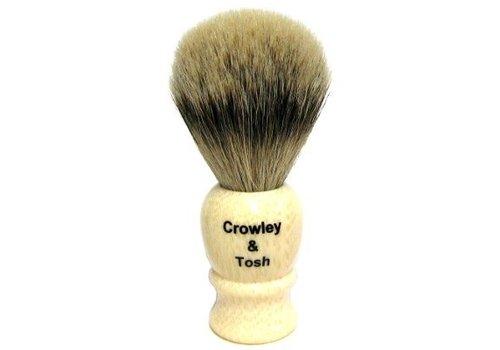 Crowley & Tosh Crowley & Tosh Imitation Ivory Silvertip Badger Shaving Brush - sb15i