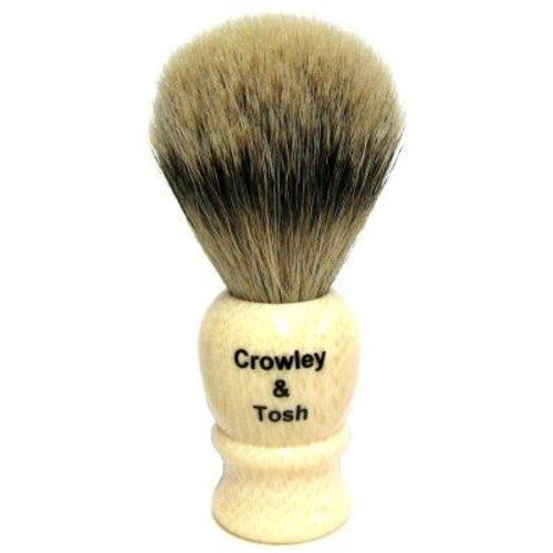 Crowley & Tosh sb15i Crowley & Tosh Silvertip Badger Shaving Brush - Imitation Ivory