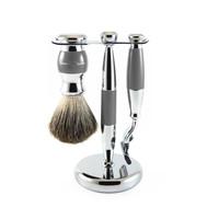 3 Piece Grey Shaving Set (Mach 3)