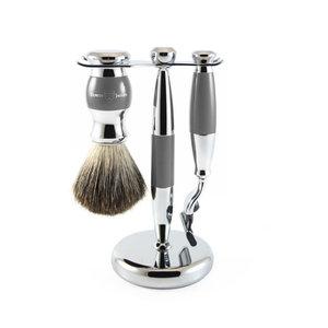 Edwin Jagger 3 Piece Grey Shaving Set (Mach 3)