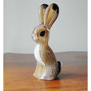 Langham Glass Small Hare Glass Figurine