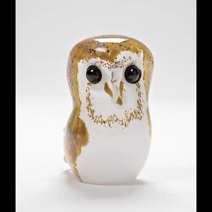 Langham Glass Barn Owl Glass Figurine