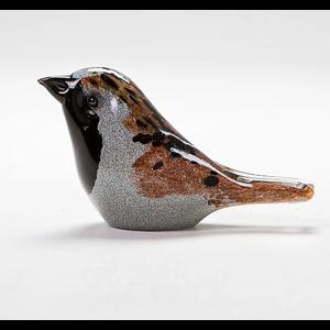 Langham Glass Sparrow Glass Figurine
