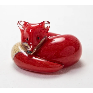 Langham Glass Small Red Fox at Rest Glass Figurine