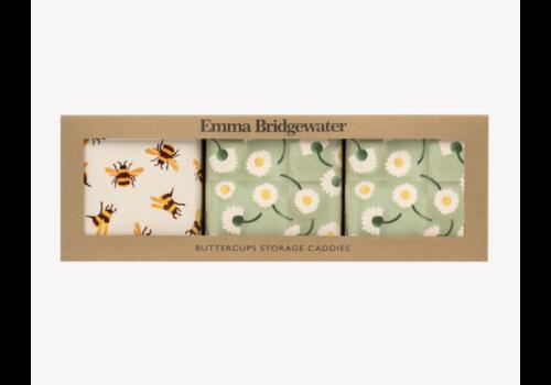 Emma Bridgewater Buttercup Set 3 Square Caddies
