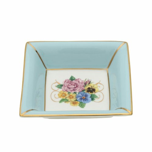 Halcyon Days Castle of Mey Shell Garden Floral Square Tray