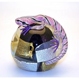 Twists Glass Studio Twists Glass Studio Lizard Paperweight - Purple